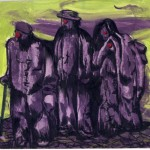Mes Joyeux Aîeux, 2010. Peinture acrylique, 14,2 x 19,2 cm.