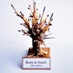 Born to burn, 2006. Poterie, racine, allumettes, terre, 20 x 11 x 9,5 cm.