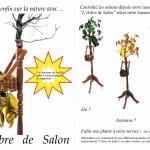 """""""L'Arbre de Salon"""" , 2010  (Faîte de Bonzaï, bois essence diverses,  métal, papier, peinture...) (150/40/40cm)"""
