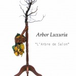 """""""L'Arbre de Salon"""" , 2010  (Bois de Bonzaï, bois essence diverses,  métal, papier, peinture...) (150/40/40cm)"""
