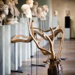 """""""La Branche du Temps"""" 2012 Lxlxh : 1150 x 110 x 124 cm (Bois de Chêne, bois divers, acier, peinture, lasure.) (Musée St Raymond / Toulouse / Jardins Synthétiques)"""