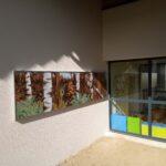 """""""Panorama Forestier"""" 2019, Crèche de Montgaillard. Peinture acrylique 2 x 300x76cm / Œuvre réalisée dans le cadre du dispositif dédié au 1%artistique. / DRAC Occitanie / Comm. d'agglo. Pays Foix Varilhes /"""